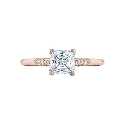 Tacori 2651PR55-PK Simply Tacori Rose Gold Princess Cut Engagement Ring