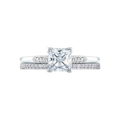 Tacori 2651PR55 Platinum Princess Cut Beautiful Engagement Ring set