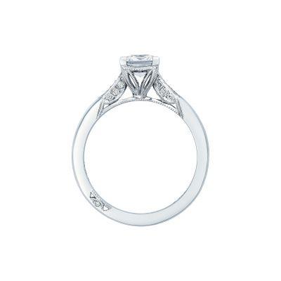 Tacori 2651PR55 Platinum Princess Cut Engagement Ring side