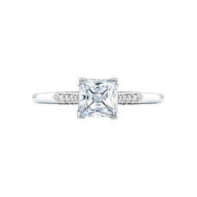 Tacori 2651PR55 Simply Tacori Platinum Princess Cut Engagement Ring