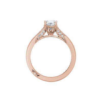 Tacori 2651PS85X55-PK Rose Gold Pear Shaped Engagement Ring side