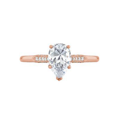 Tacori 2651PS85X55-PK Simply Tacori Rose Gold Pear Shaped Engagement Ring