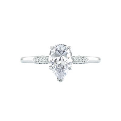 Tacori 2651PS85X55-W Simply Tacori White Gold Pear Shaped Engagement Ring
