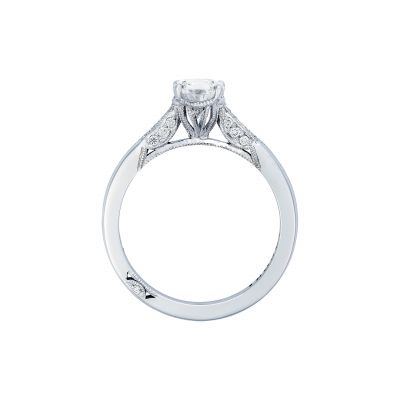 Tacori 2651PS85X55-W White Gold Pear Shaped Engagement Ring side
