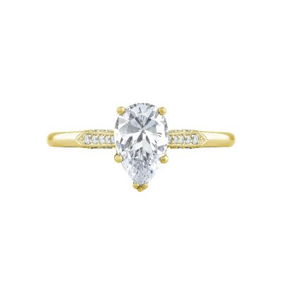Tacori 2651PS85X55-Y Simply Tacori Yellow Gold Pear Shaped Engagement Ring