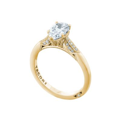 Tacori 2651PS85X55-Y Yellow Gold Pear Shaped Classic Engagement Ring angle