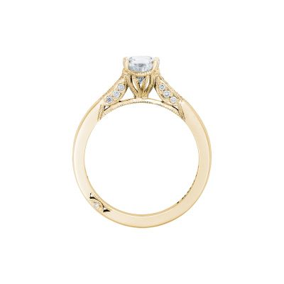 Tacori 2651PS85X55-Y Yellow Gold Pear Shaped Engagement Ring side