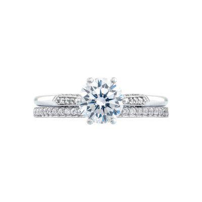 Tacori 2651RD White Gold Round Simple Engagement Ring set
