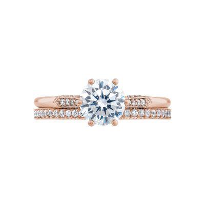 Tacori 2651RD65-PK Rose Gold Round Classic Engagement Ring set
