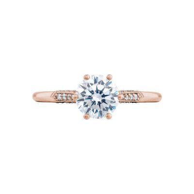 Tacori 2651RD65-PK Simply Tacori Rose Gold Round Engagement Ring