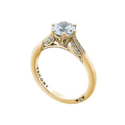 Tacori 2651RD65-Y Yellow Gold Round Classic Engagement Ring angle