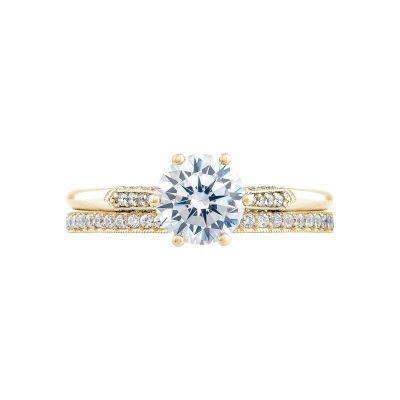 Tacori 2651RD65-Y Yellow Gold Round Classic Engagement Ring set