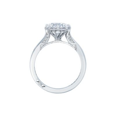 Tacori 2652RD White Gold Round Engagement Ring side
