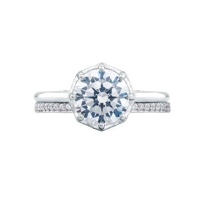Tacori 2652RD White Gold Round Solitaire Engagement Ring set