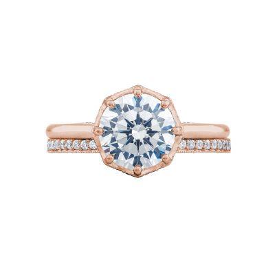 Tacori 2652RD8-PK Rose Gold Round Solitaire Engagement Ring set