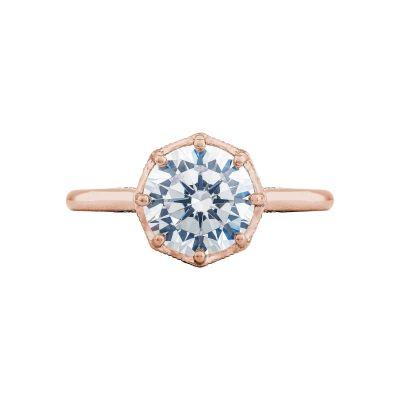 Tacori 2652RD8-PK Simply Tacori Rose Gold Round Engagement Ring