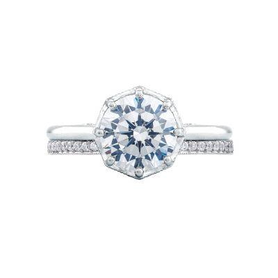 Tacori 2652RD8 Platinum Round Solitaire Engagement Ring set