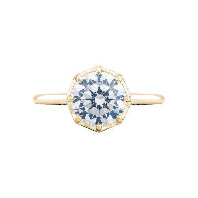 Tacori 2652RD8-Y Simply Tacori Yellow Gold Round Engagement Ring