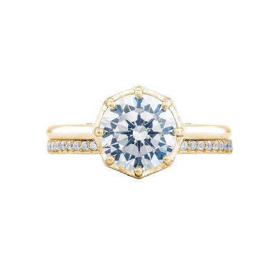 Tacori 2652RD8-Y Yellow Gold Round Solitaire Engagement Ring set