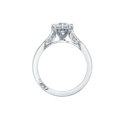 Tacori 2653RD White Gold Round Engagement Ring side