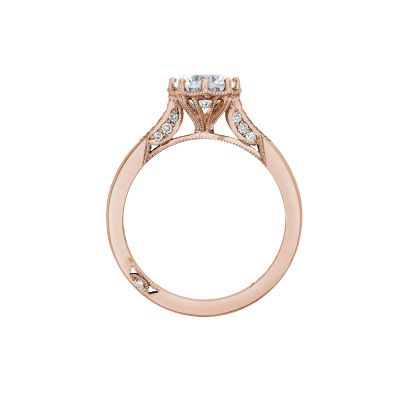 Tacori 2653RD65-PK Rose Gold Round Engagement Ring side