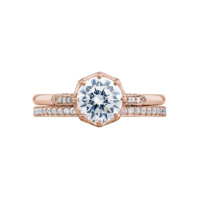 Tacori 2653RD65-PK Rose Gold Round Simple Engagement Ring set