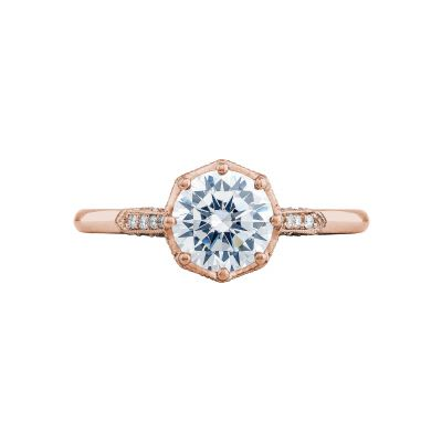 Tacori 2653RD65-PK Simply Tacori Rose Gold Round Engagement Ring