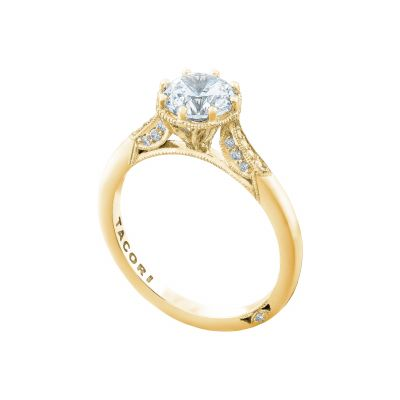 Tacori 2653RD65-Y Yellow Gold Round Unique Style Engagement Ring angle