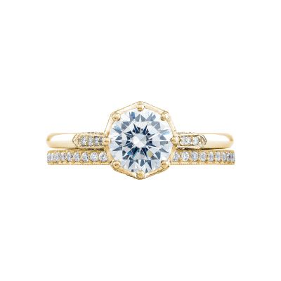Tacori 2653RD65-Y Yellow Gold Round Unique Style Engagement Ring set