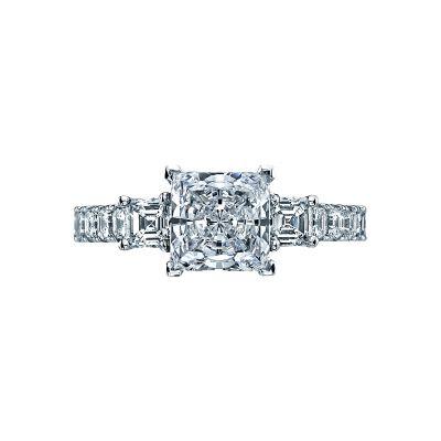 Tacori 29-25PR Clean Crescent White Gold Princess Cut Engagement Ring