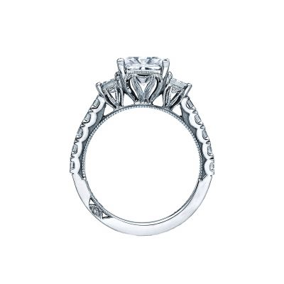 Tacori 29-25PR White Gold Princess Cut Engagement Ring side