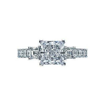 Tacori 29-25PR7 Clean Crescent Platinum Princess Cut Engagement Ring