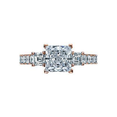Tacori 29-25PR7-PK Clean Crescent Rose Gold Princess Cut Engagement Ring