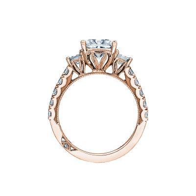 Tacori 29-25PR7-PK Rose Gold Princess Cut Engagement Ring side