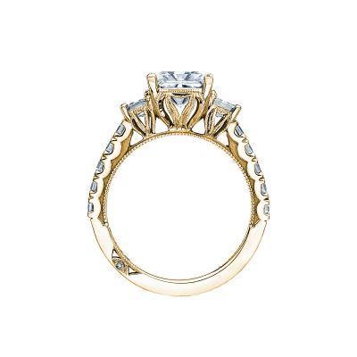 Tacori 29-25PR7-Y Yellow Gold Princess Cut Engagement Ring side