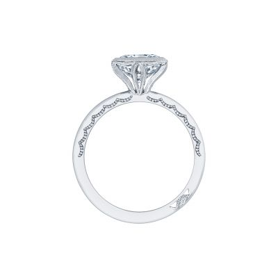 Tacori 300-25PR-7 Platinum Princess Cut Engagement Ring side