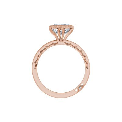 Tacori 300-25PR-7PK Rose Gold Princess Cut Engagement Ring side