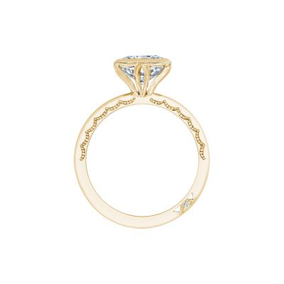 Tacori 300-25PR-7Y Yellow Gold Princess Cut Engagement Ring side