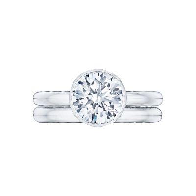 Tacori 300-25RD-8 Platinum Round Simple Engagement Ring set