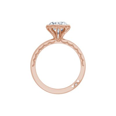 Tacori 300-25RD-8PK Rose Gold Round Engagement Ring side