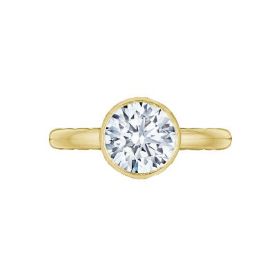 Tacori 300-25RD-8Y Starlit Yellow Gold Round Engagement Ring