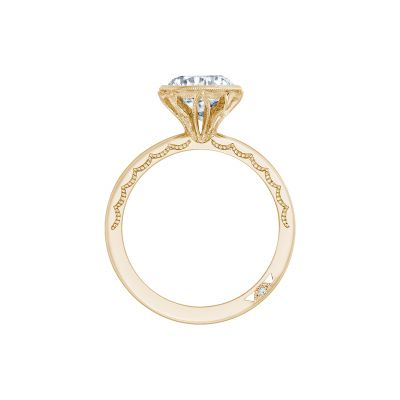 Tacori 300-25RD-8Y Yellow Gold Round Engagement Ring side