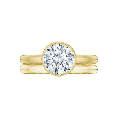 Tacori 300-25RD-8Y Yellow Gold Round Unique Style Engagement Ring set