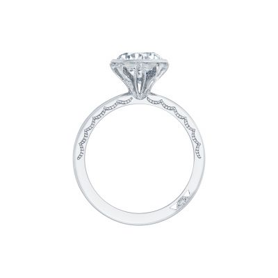 Tacori 300-25RD White Gold Round Engagement Ring side