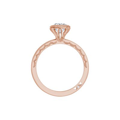 Tacori 300-2CU-6PK Rose Gold Cushion Cut Engagement Ring side