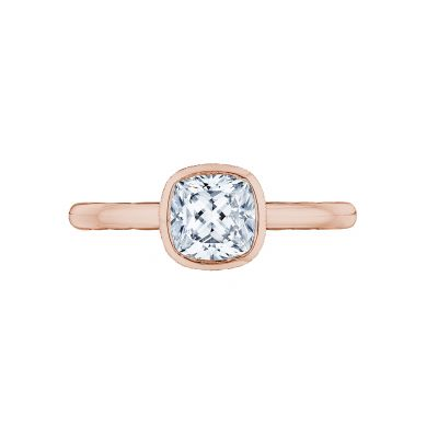 Tacori 300-2CU-6PK Starlit Rose Gold Cushion Cut Engagement Ring
