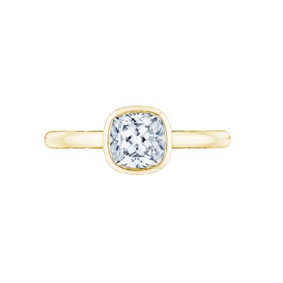 Tacori 300-2CU-6Y Starlit Yellow Gold Cushion Cut Engagement Ring