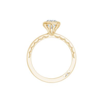 Tacori 300-2CU-6Y Yellow Gold Cushion Cut Engagement Ring side