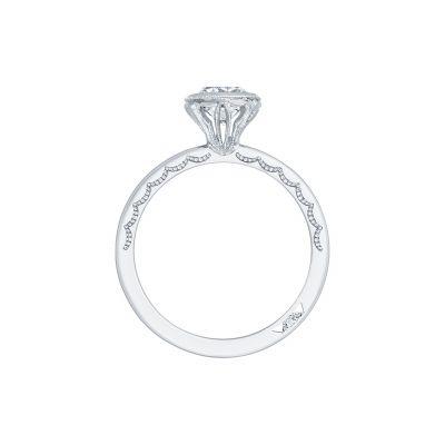 Tacori 300-2CU White Gold Cushion Cut Engagement Ring side