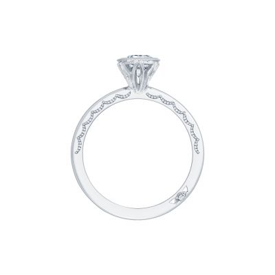 Tacori 300-2EC-7X5 Platinum Emerald Cut Engagement Ring side